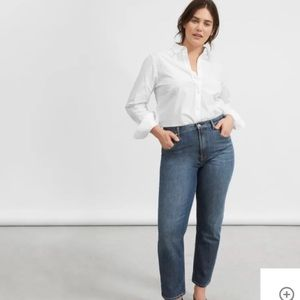 EVERLANE Faded Indigo Straight Jeans - Size 31